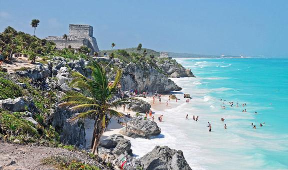 Develan billete de lotería de la Zona Arqueológica de Tulum, muestra de la belleza contenida en Quintana Roo